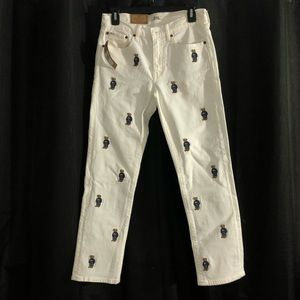 White polo bear pants